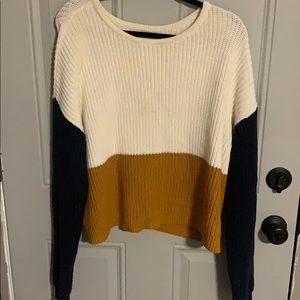 colorblock sweater from pacsun